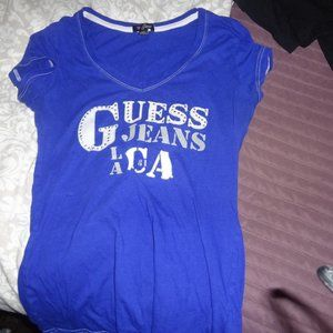 blue guess top
